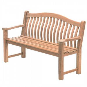 Mahogany Turnberry Bench Mahogany is widely regarded as a premier hardwood with all the natural characteristics for creating practical, strong and elegant garden furniture. Produce Dimensions Total Height: 970mm Total Width: 1555mm Total Depth: 625mm Total Weight: 25kg