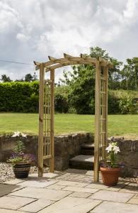 Moonlight Arch Posts - 70mm x 70mm Rafters - 70mm x 35mm Bowed Rafter - 70mm x 35mm  Trellis - 30mm x 12mm Pressure treated Adjustable width