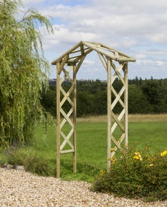 Rustic Arch Posts - 70mm rounds Trellis laths - 30mm x 13mm