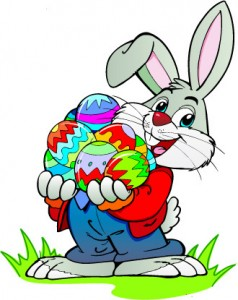Easter Bunny trail. Visit us on the 25th, 26th and 28th of March